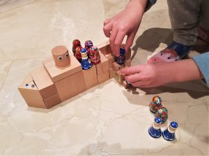 Preschool play-based learning with blocks